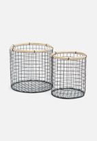 Sixth Floor - Hira small iron baskets