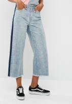 Missguided - Wide leg contrast side jeans