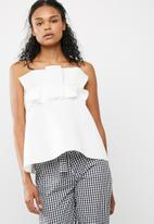 Missguided - Gathered strapless bandeau top