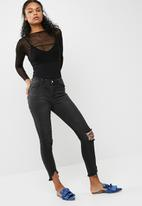 Missguided - Mesh 2 in 1 bodysuit