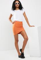 Missguided - Bandage asymmetric mini skirt