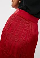 Missguided - Tiered fringe trousers