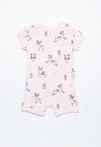 Cotton On - Baby mini SS zip through romper