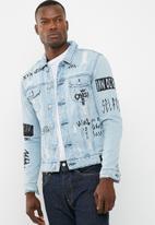 Only & Sons - Doodle denim trucker jacket