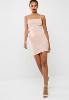 dailyfriday - Short square neck bodycon dress