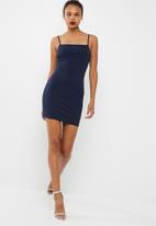 dailyfriday - Short square neck bodycon dress