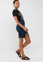 dailyfriday - Freyed hem denim skirt