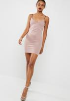 Missguided - Panelled strappy bodycon dress