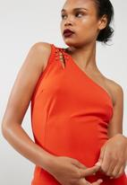 Missguided - Crepe one shoulder bar detail bodycon