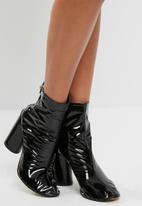 Public Desire - Lia vinyl stud strap ankle boot