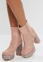 Public Desire - Romance glitter sole platform ankle boot