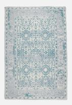 Sixth Floor - Antique printed rug - blue