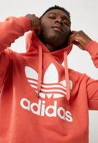 adidas Originals - Mens Over the Head Hood - Scarlet - White