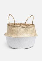 Sixth Floor - Belly basket two tone white