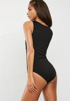 dailyfriday - Mesh inset sleeveless bodysuit