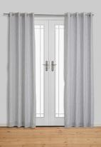 Sixth Floor - Fine stripe eyelet curtain