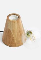 Sixth Floor - Tapered oak table lamp