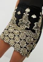 Missguided - Sequin embellished velvet mini skirt