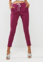 Missguided - Double side stripe joggers