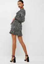 Missguided - Satin dot print tea dress