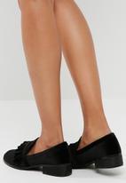 Missguided - Velvet frill loafer