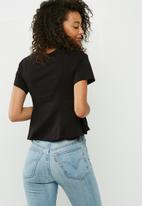 dailyfriday - Peplum corset tee