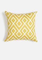 Sixth Floor - Gem cushion cover - mustard