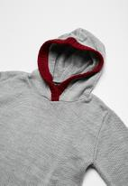 basicthread - Knitted elbow patch hoodie