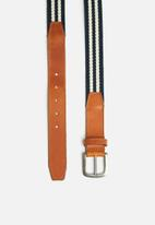 basicthread - Leather and canvas belt