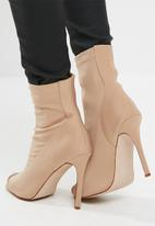 Missguided - Neoprene peep toe ankle boot