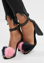 Missguided - Pom pom block heels sandal