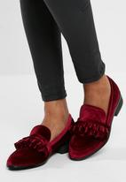 Missguided - Velvet frill loafer