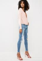 Missguided - Long sleeve wrap top
