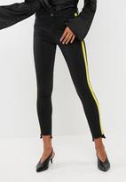 Missguided - Anarchy mid rise side stripe jeans