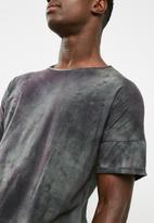 basicthread - Longline curved hem drop shoulder tee