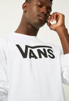 Vans - Vans Classic L/S tee - White/black
