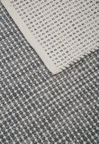 Sixth Floor - Haida woven rug - duck egg blue/grey