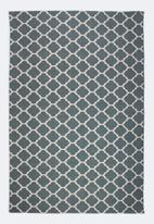 Sixth Floor - Daisy printed rug - teal green