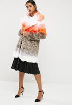 Glamorous - Ombre faux fur coat