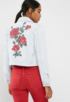 Cotton On - Girlfriend embroidered denim jacket