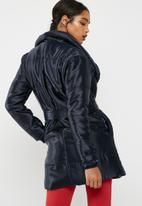 dailyfriday - Mid length belted padded jacket