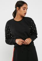 New Look - Pearl embellished shoulder sweat top