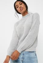 Jacqueline de Yong - Crunchy highneck sweater