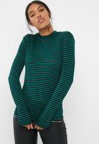 Jacqueline de Yong - Spirit highneck stripe top
