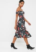 dailyfriday - Off the shoulder scuba midi dress