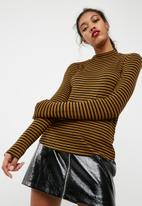 Jacqueline de Yong - Spirit highneck stripe top