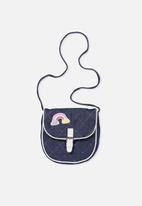 Cotton On - Kids chambray patches bag