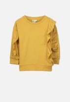 Cotton On - Kids sage front frill fleece top