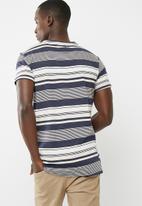 basicthread - Striped crew neck tee