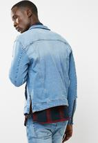 Only & Sons - Storm zip detail denim jacket